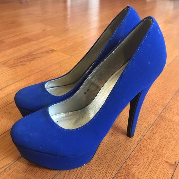 Royal Blue Platform Stiletto Heels